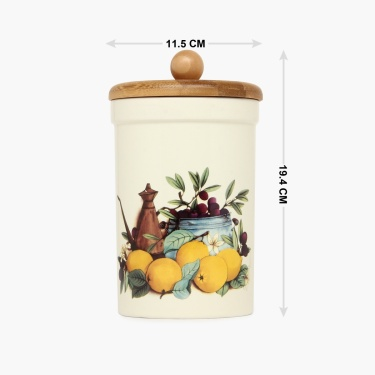 Cranberry Printed Canister