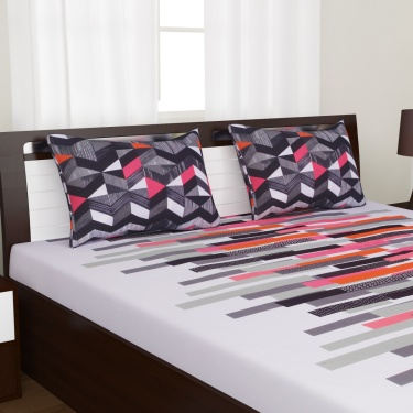 PORTICO Queen Bedsheet Set -3 Pcs.