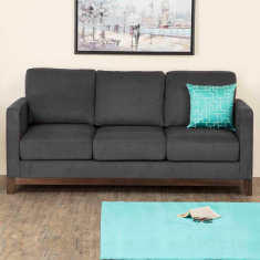 Adalyn Miami Fabric Sofa -3 Seater Dark Grey
