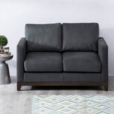 Adalyn Miami Fabric Sofa -2 Seater Dark Grey