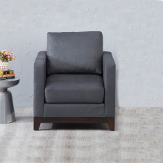 Adalyn Miami Fabric Sofa -1 Seater Dark Grey