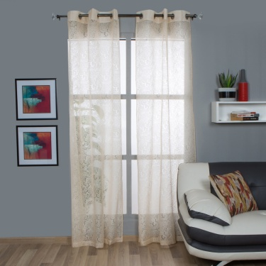 Aspen Sheer Window Curtain-Set Of 2-110 x 160 CM