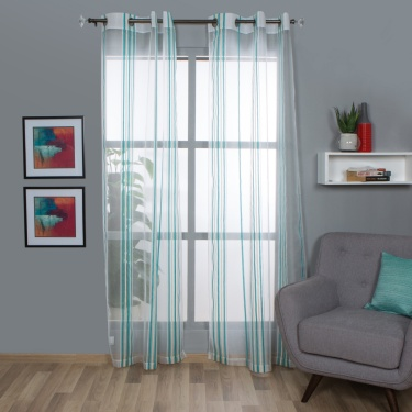 Aspen Mistletoe Sheer Window Curtain-Set Of 2-110 x 160 CM