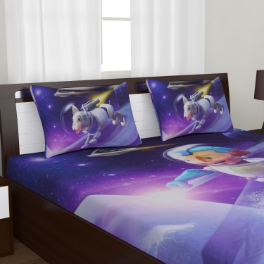 Kids Adventures of U-tron Double Bedsheet Set