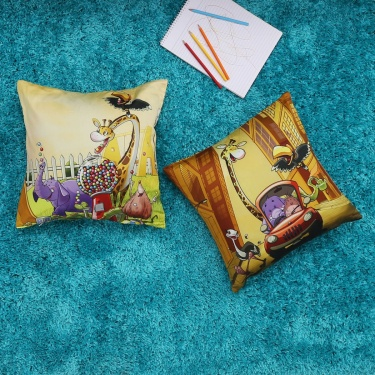 City Goes Wild Cushion Cover- Set Of 2 Pcs.