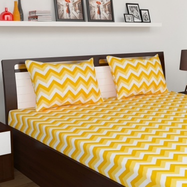 Kids City Goes Wild Chevron Print Double Bedsheet Set