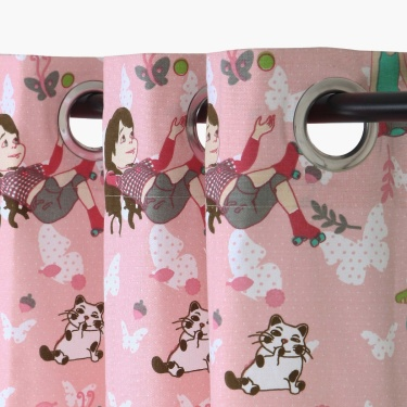 Kids Fabolous3 Kids Dreamy Girlie Printed Single Door Curtain