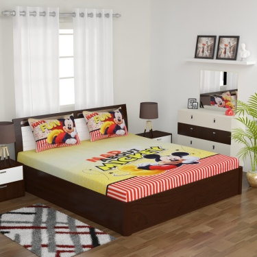 Kids Mickey Double Bedsheet Set
