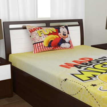 Kids Mickey Single Bedsheet Set