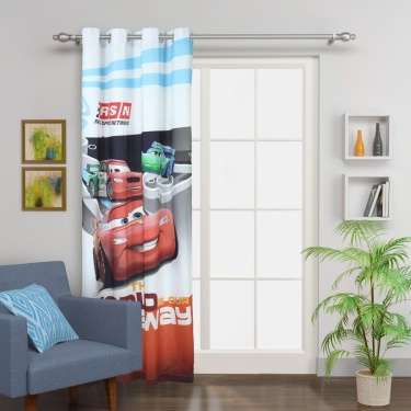 Kids Cars Toon Car Single Door Curtain