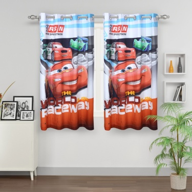 Kids Cars Opaque Window Curtain
