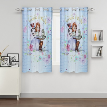 Kids Sofia Single Window Curtain