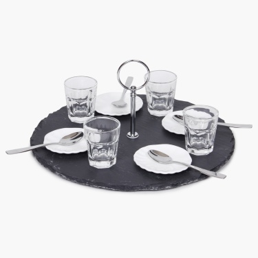 Irene Appetizer Set With Handle-13 Pcs.