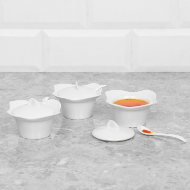 Iceberg Sauce Bowl With Spoon-3 Pcs.