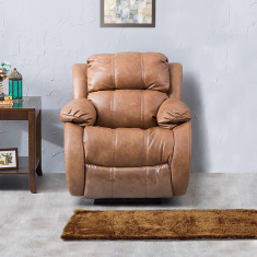 Ashby Faux Leather Electric Recliner-1 Seater Brown