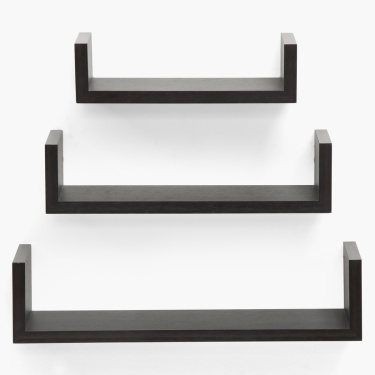 Step Shelf Set- 3 Pcs. Brown
