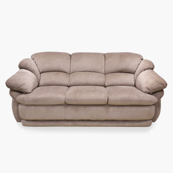 Zno Cuddler Fabric Sofa 3 Seater Brown