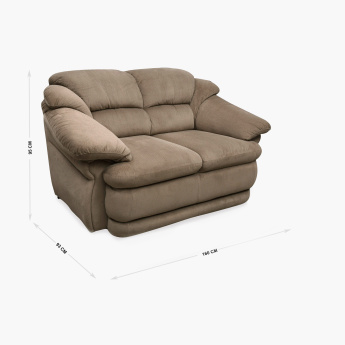 Zecchino Cuddler Fabric Sofa -2 Seater Brown