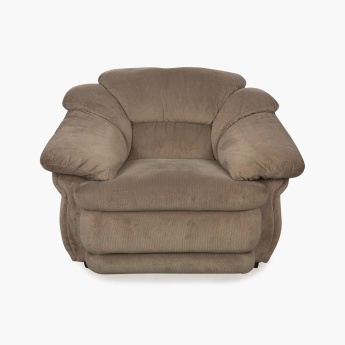 Zecchino Cuddler Fabric Sofa -1 Seater Brown