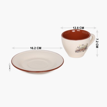 Jardin Cup And Saucer