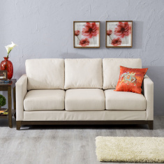 Adalyn Miami Fabric Sofa -3 Seater Beige