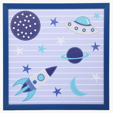 Adventure of U-tron Space Canvas Picture Frame