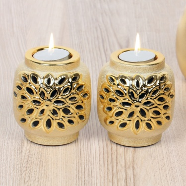 Fantasy T Light Holder- Set Of 2