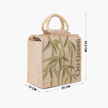 Livia Zipper Jute Bag