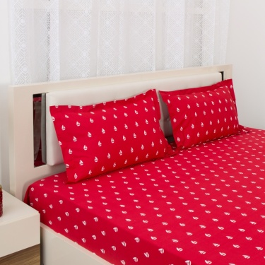 Mandarin Printed 2-Pc. Single Bedsheet Set