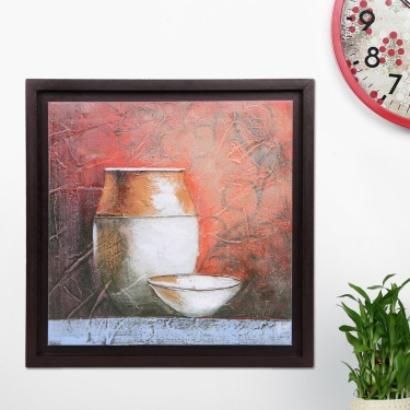 Artistry Earthen Pot Hand Painting Frame