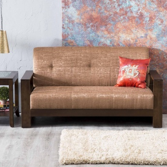 Delport Nomad Fabric Sofa -3 Seater Brown