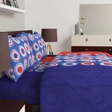 SPACES Double Bed Quilt With Bed Linen Set - Pack Of 4 Pcs.