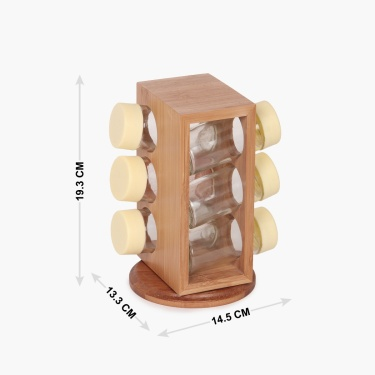 Edulis Spice Rack Set- 6 Pcs.