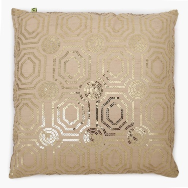 Merry Sparkle Sequin Motiff Filled Cushion - 40 x 40 CM