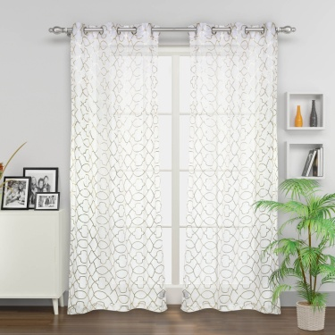 Matrix Sheer Door Curtain