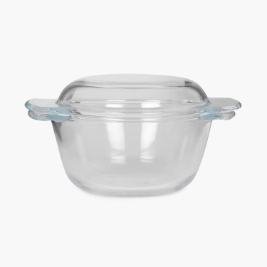 Sweetshop Dotted Handle Glass Casserole