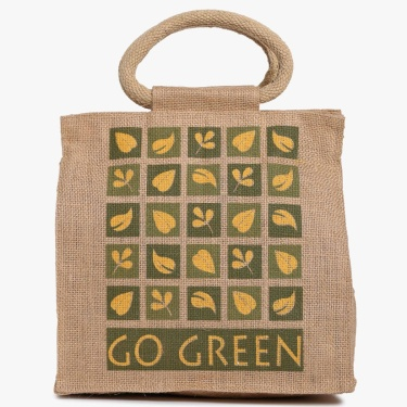 Livia Jute Lunch Bag