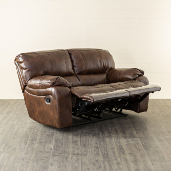 Apollo Faux Leather Recliner-2 Seater Brown