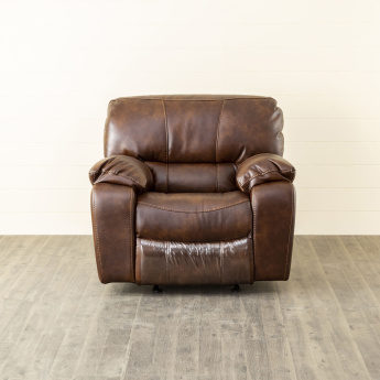 Apollo Faux Leather Recliner-1 Seater Brown