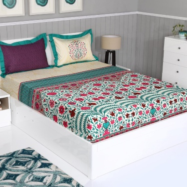PORTICO Tree Of Life 3-Pc. Super King Size Bedsheet Set - 274 x 274 cm
