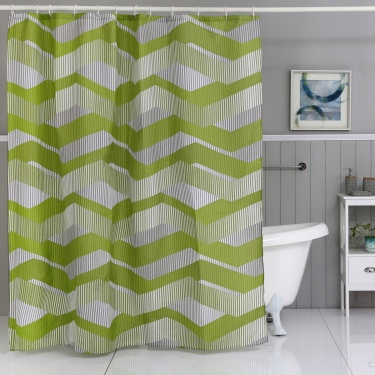 Hudson Geonic Printed Shower Curtain- 180X180Cm