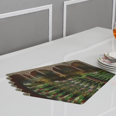 Atlantis Mehrab Printed Placemat Set-6pcs