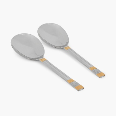 Glister Royal Meadow Rice Serving Spoon - Set Of 2 Pcs.