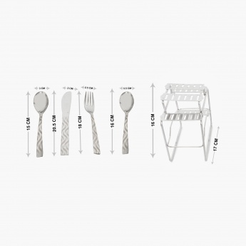 Glister Royce Solid Cutlery Set -Set Of 25 Pcs.