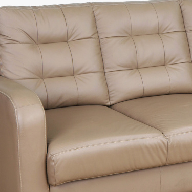 Montoya Solid Three-Seater Sofa