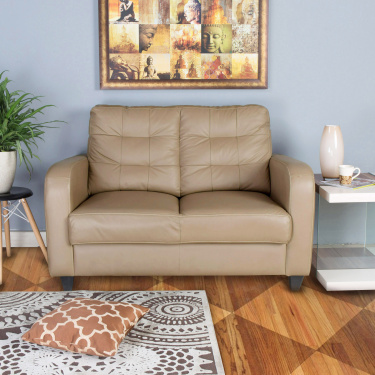Montoya Solid Two-Seater Sofa