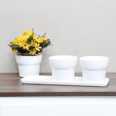 Madison Planter With Plate - Set Of 3