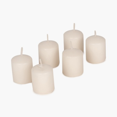 Galaxy Selena Vanilla Votive Light Candles - Set Of 6