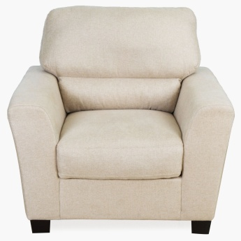 Amber Fabric Sofa-1 Seater Beige