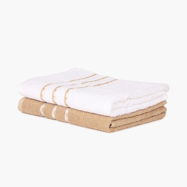 Mandarin Double Bed And Towel Set - 5 Pcs.